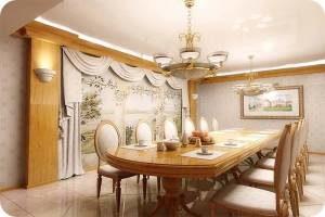 дизайн столовой комнаты в доме