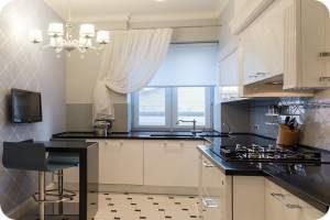 современный интерьер в маленькой кухне