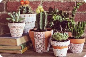 Идеи для декора цветочных горшков