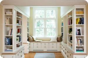 оформление домашней библиотеки