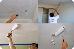 побелить потолок водоэмульсионной краской