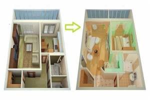 варианты перепланировки квартир